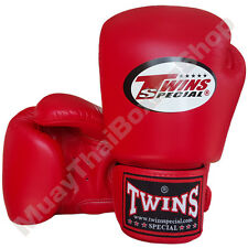Twins Special Muay Thai Boxing Plain Gloves BGVL-3-RD Red 8-10-12-14-16 oz.