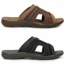 Mens Slip On Padded Insole Faux Leather Comfortable Sandals Summer Shoes