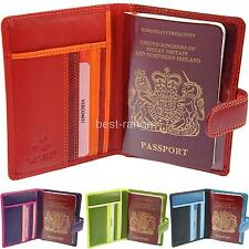 Passport Wallet Cover Real Leather Soft Visconti New in Gift Box 4 Colours RB75
