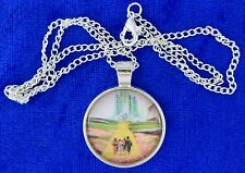 Wizard of Oz Necklace Yellow Brick Road Cabochon Style Chain Style Length Choice