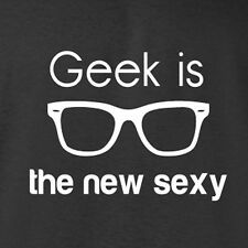 New Nerd T-shirt Geek Is The New Sexy girl costume emo retro cool alternative
