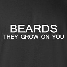 New T-shirt Beards They Grow On You. Beard wig costume moustache trimmer