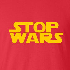 New Funny T-shirt Stop Wars. Star parody Vintage costume storm trooper