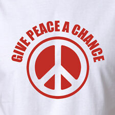 New Peace Hippy Festival Tshirt Clothing Give Peace Chance John Lennon Beatles