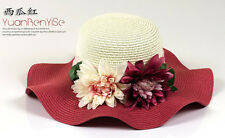 HOT Ms. Large along the straw hat The simulation flower hat Summer Straw hat