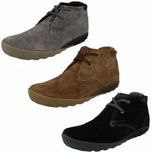 MENS CATERPILLAR SUEDE LEATHER LACE UP CASUAL SHOES CRUMP MID CUT ANKLE BOOTS