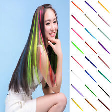 1x Women 12 Colour Long Straight Synthetic Clip in on Hair Extensions Piece