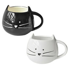 Coffee Cup White Cat Animal Milk Cup Ceramic Lovers Mug Cute Birthday Gift F6