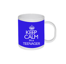 New Keep Calm I'm a Teenager Personalised Colours 13th Birthday Gift Mug Cup