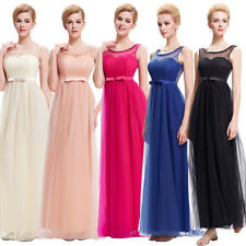 Womens Tulle Long Party Evening Dress Prom Cocktail Bridesmaid Gown Wedding Maxi