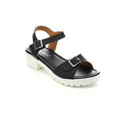 JELLY BEANS WABLO Children's Girl Comfort Ankle Strap Chunky Heel Sandals