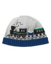 GYMBOREE ALL SPRUCED UP GRAY w/ TRAIN SWEATER BEANIE HAT 6 12 2T 3T NWT