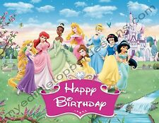 Disney Princesses Personalized Edible Image Cake Topper Frosting Sheets 5 Sizes