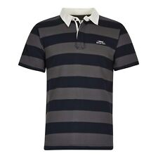 Weird Fish Loks Striped Rugby Style Shirt Grey
