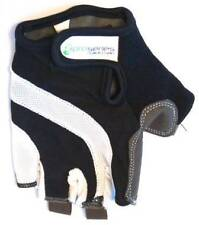 Cycling PRO-SERIES Short Finger / Fingerless Gloves Gel Padded Palm BLACK/WHITE