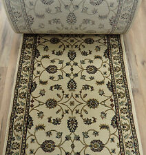 "Rug Depot Hall and Stair Runner Remnants - 26"" Wide - Cream Carpet Rug Runner"