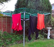 NEW Heavy Duty 4 Arm Rotary Clothes Airer / Dryer Washing Line Garden Foldable