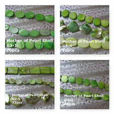 Mother of Pearl Shell Beads Green MOP Beads Oval Nugget Round 12-20mm