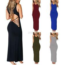 Women Bandage Backless Bodycon Maxi Cocktail Evening Party Gown Party Dress S-XL