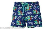 OLD NAVY Boys Swimsuit Size 6 12 months MUSCLE BEACH Swim Trunks Blue Baby NEW