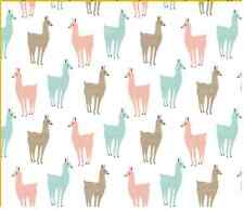 Spoonflower Llamitas craft sewing fabric by the yard in a variety of cotton