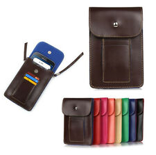 "PU Leather Phone Case Bag Carry Bag Pouch Bag Shoulder Strap for 6.3"" Cell Phone"