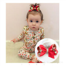Girls Hair Bow Flower Hairpin Kids Baby Toddler Headwear Clips Accessories 2PCS
