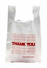 """ Thank You "" T-Shirt Bags  Small  White  Plastic  Shopping bags"