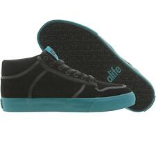 ALIFE Everybody Mid Black Suede (green) $120 fashion sneakers