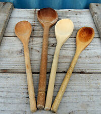 Vintage Shabby Wooden Mixing Spoons  Stirrers Kitchen Utensils - Kitchenalia #3