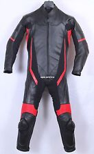 1pc MOTORCYCLE LEATHER RACING RED SUIT CE APPROVED ARMOR ALL SIZES
