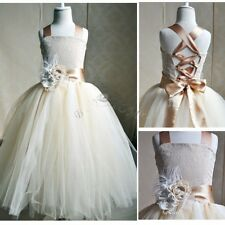 Formal Lace Baby Princess Bridesmaid Flower Girl Dresses Wedding Party Dress
