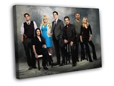 Criminal Minds Cast Characters Season 10 TV Series WALL FRAMED CANVAS PRINT