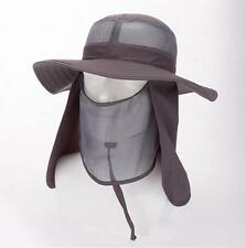 Unisex Sun Cap Outdoor Fishing Hiking Hat Protection Face Neck Wide Brim Hat
