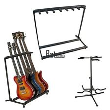 3/5/7 Acoustic Electric Bass Guitar Folding Multiple Instrument Stand Organizer