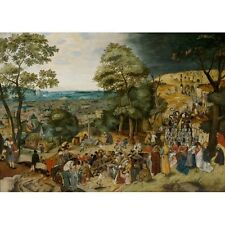1605 Pieter Bruegel The Younger Christ Carrying Of The Cross Painting Art Poster