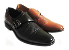 NEW MENS SLIP ON LOAFERS CAP TOE BUCKLE COMFORT LEATHER LINED CLASSIC DRESS SHOE