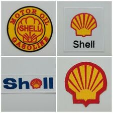 Shell Iron Sew On Patch Embroidered Gasoline Auto Motor Petrol Oil Station Racin