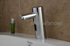 Automatic Hands Free Brass Sensor Bathroom Faucet Hot & Cold water sink tap