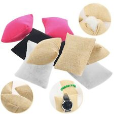 Linen Bracelet Bangle Watch Pillow Holder For Jewelry Display Case Box AB