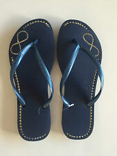 ORIGINAL HAVAIANAS SLIM INFINITY CRYSTAL SANDAL LADIES WOMEN FLIP FLOP NAVY BLUE