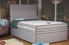 Sweet Dreams Essential Grand Fabric Divan Bed Storage Options 4FT 6, 5FT, 6FT