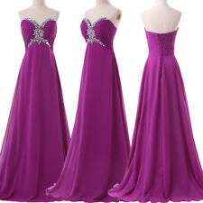 Women Strapless Long Evening Formal Party Cocktail Dress Bridesmaid Prom Gown GK