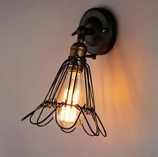 Black Iron Industrial Vintage Wall Lamp Adjustable Sconce Wall Light Fitting Bar