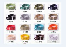 20MM Nylon Watch band watch strap 18 Pure color 304 Stainless steel buckle 1pcs