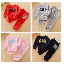 New Boys Girls Cotton Sports Tracksuits Gap print Outfit size 1.2.3.4.5yrs