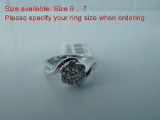 925 Sterling silver size 6, 7 Ring,AAAAA grade CZ stones, Postage Free SET