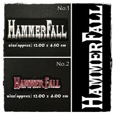 HammerFall Patch Sew On Embroidered Iron Rock Band Music Heavy Metal Logo Appliq