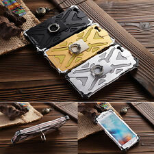 Transformers Aluminum Armor Duty Ring Holder Cover Case For iPhone 6 6S Plus 5S