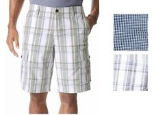 Men's NWT Dockers Pacific Cargo Shorts Plaid Casual Classic Fit Choose Size